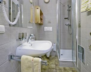 Single room, shower, toilet