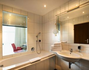 Double room, shower and bath, toilet, superior